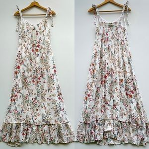 rachel zoe rayon floral tie shoulder maxi dress